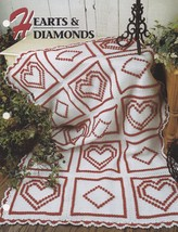 Hearts & Diamonds, Annie's Crochet Quilt and Afghan Pattern Leaflet QAC3... - $3.95