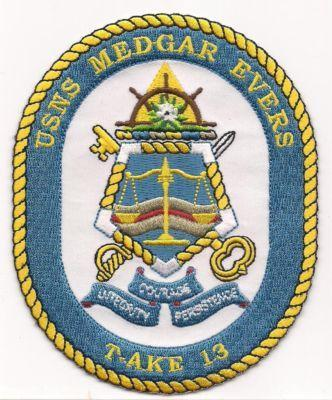 Primary image for US Navy T-AKE-13 USNS Medgar Evers Patch
