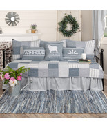 Vhc Brands 5pc Quilt Set vintage style farmhouse Sawyer Mill Blue Daybed  - $149.95