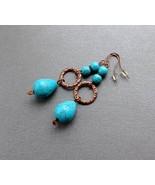 drop earrings turquoise blue stones.  - $17.00