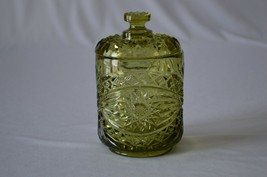 Imperial Glass Green Americana #282/1 Small Covered Jar - $13.86