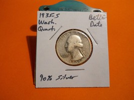 1935- S Washington Silver Quarter!!! Better Date!!! Nice Coin!!! 90% Sil... - $6.91
