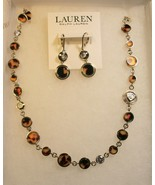 RALPH LAUREN GOLD TONE NECKLACE & EARRINGS SET - $74.25