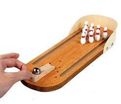 Mini Wooden Tabletop Bowling Game - $19.75