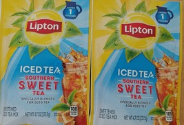 Lipton Southern Sweet Iced Tea Mix 4.7oz Sweet Pitcher Packets BB 8/5/21 2 Pack - $7.84