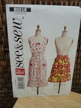 See & Sew B5518/A Apron with ruffle Pattern - $2.48