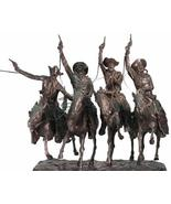 """Frederic Remington Solid American Bronze """"Coming Through the Rye"""" Heroic - $23,900.00"""