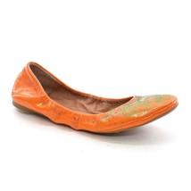 LUCKY BRAND Erin FLATS Womens size 7 / 37 Orange Patent Glitter Skimmer ... - $535,15 MXN