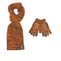 Officially Licensed NFL Colorblend Scarf and Texting Tip Glove Set Chicago Bears - $18.68