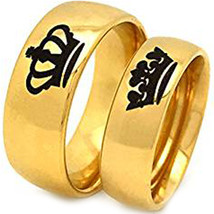 coi Jewelry Titanium King Queen Wedding Band Ring-399 - $69.99