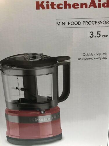 New in Box KitchenAid 3.5 Cup Mini Food Processor Chopper WATERMELON COLOR-NEW