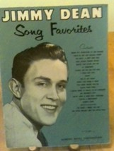 JIMMY DEAN SONG FAVORITES 1958 SONG BOOK FOR PIANO & GUITAR TEN LITTLE F... - $12.38