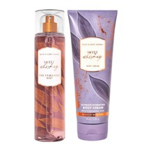 Bath & Body Works SWEET WHISKEY Fine Fragrance Mist Spray & Body Cream Set - $26.55