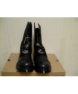 Women's dr martens leather boots biking Aimilita black size 5 us new  - $128.65