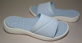 Crocs Size 6 REVIVA Light Blue Slides Sandals New Womens Shoes - $32.18