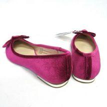 Stevies #Stars Fuchsia Pink Velvet Flats w Bow NWT Christening Wedding Party image 3