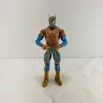 WWE Sin Cara Mattel Basic Series 18 Wrestling Figure Lucha Blue Gold Gear NXT - $19.34