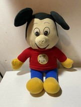 VTG Disney Knickerbocker Mickey Mouse Club MICKEY MOUSE Plush Stuffed Animal Toy - $12.19