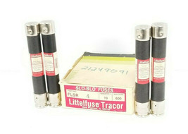 BOX OF 4 NEW LITTELFUSE TRACOR FLSR4 SLO-BLO FUSES FLSR 4, 600V, 4AMP