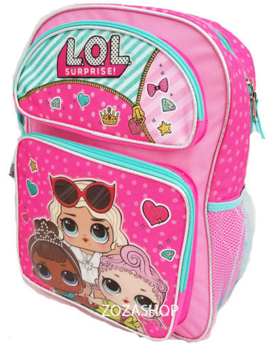 "LOL Surprise! Large 16"" inches School Backpack & Lunch Box - Licensed Product"