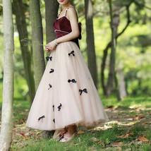 Handmade Champagne Tulle Skirt Outfit High Waisted Tulle Skirt Princess Skirt image 7