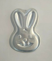 Wilton 2003 Easter Bunny Rabbit Face Head Spring Aluminum Cake Pan 2105-... - $8.79
