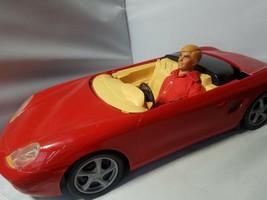 Vintage Ken Doll 1968 Blonde Hair + 1998 Mattel Barbie Red Convertible ... - $74.39