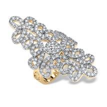 PalmBeach Jewelry 1.70 TCW 14k Yellow Gold Plated Cubic Zirconia Swirl Ring - $22.56