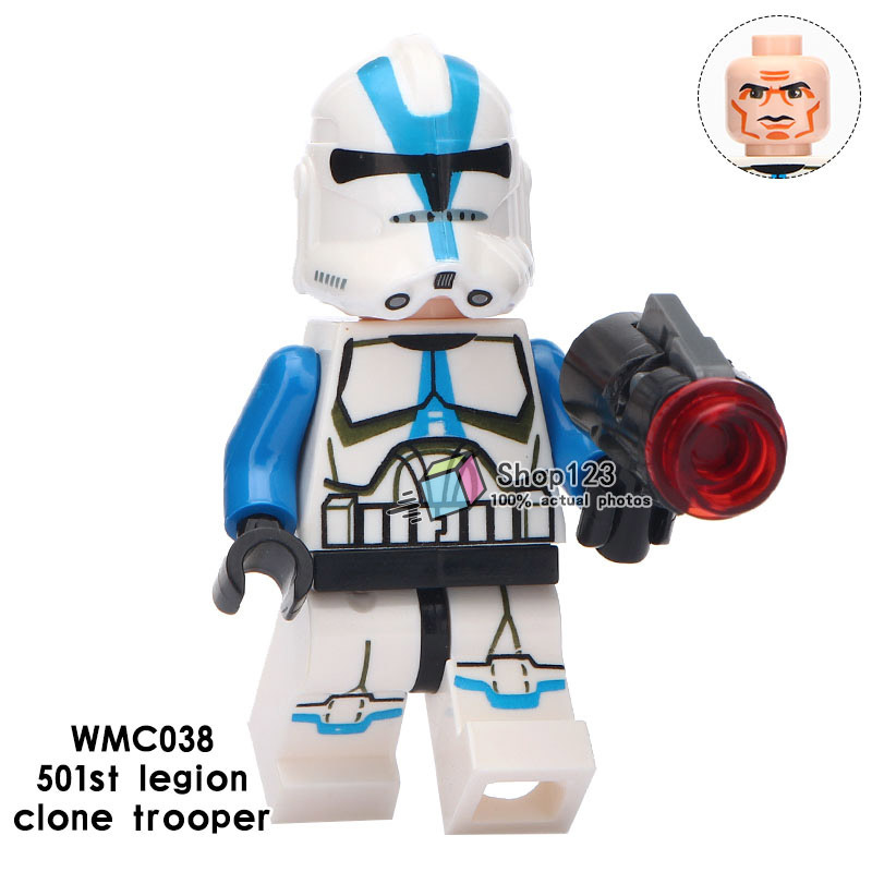 Clone trooper 501st Legion Star Wars Lego Minifigures Block Toy Gifts