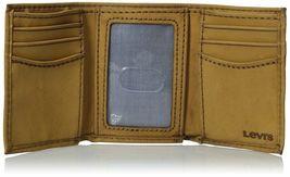 Levi's Men's Premium Leather Credit Card Id Wallet Trifold Cognac 31LV1179 image 4
