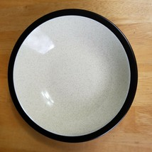 Mikasa Terra Stone Vanilla E1955 Rim Soup Bowl Speckled Beige Brown Rim - $7.91