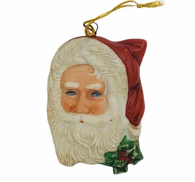 Enesco Santa Claus Christmas ornament vtg 1987 Grossman porcelain holiday decor - $16.40
