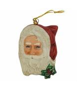 Enesco Santa Claus Christmas ornament vtg 1987 Grossman porcelain holida... - $16.40
