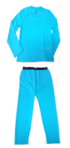 C9 Champion Girls Winter Underwear Thermal Crew & Pant Baselayer Blue Me... - $14.99