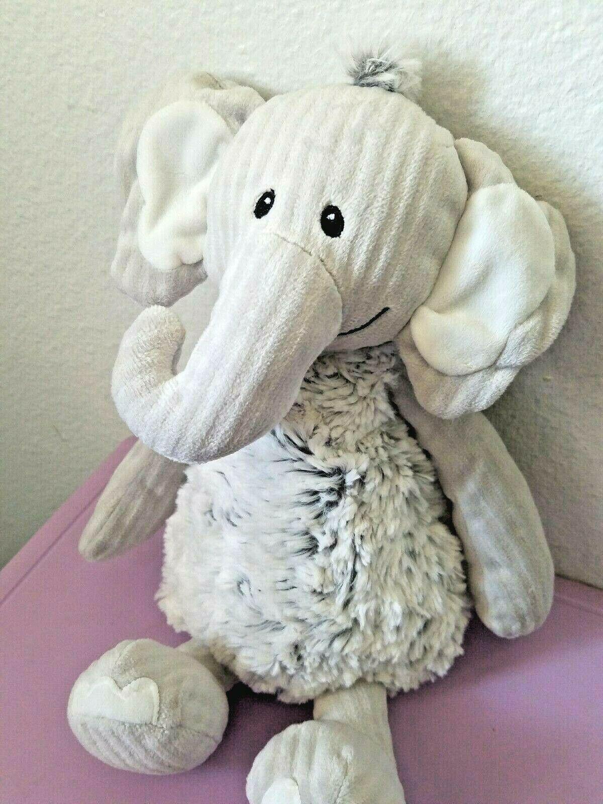 """Mary Meyer Ruffles and Ridges Elephant Plush Stuffed Animal Grey 13"""""""