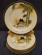 KUTANI CHINA HAND PAINTED, JAPAN SET 4 DINNER PLATES, FANTASTIC COLORS &... - $19.75