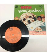 Vintage BENJI GOES TO SCHOOL See Hear Read Book and 33 Record Set Children - $18.69