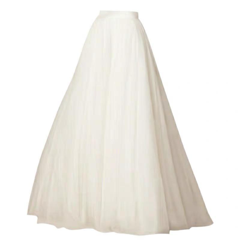 White tulle skirt bridal skirt 1