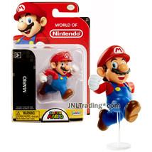 Year 2016 World of Nintendo Super Mario 2-1/2 Inch Figure Running MARIO w/ Base - $24.99