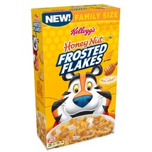 Kellogg's Frosted Flakes, Breakfast Cereal, Honey Nut, Family Size, 24.5 Oz - $7.00
