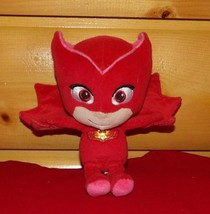 "PJ Masks Just Play Soft Plush Beans Red 8"" Superhero OWLETTE Amaya - $7.69"