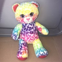 Build A Bear Lisa BAB Leopard Rainbow Plush Stuffed Animal Cat Cheetah W... - $15.00