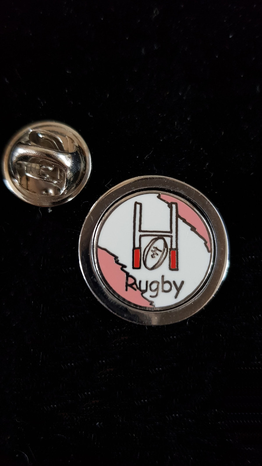 rugby posts Lapel Pin tie pin, Lapel Pin Badge, in gift box