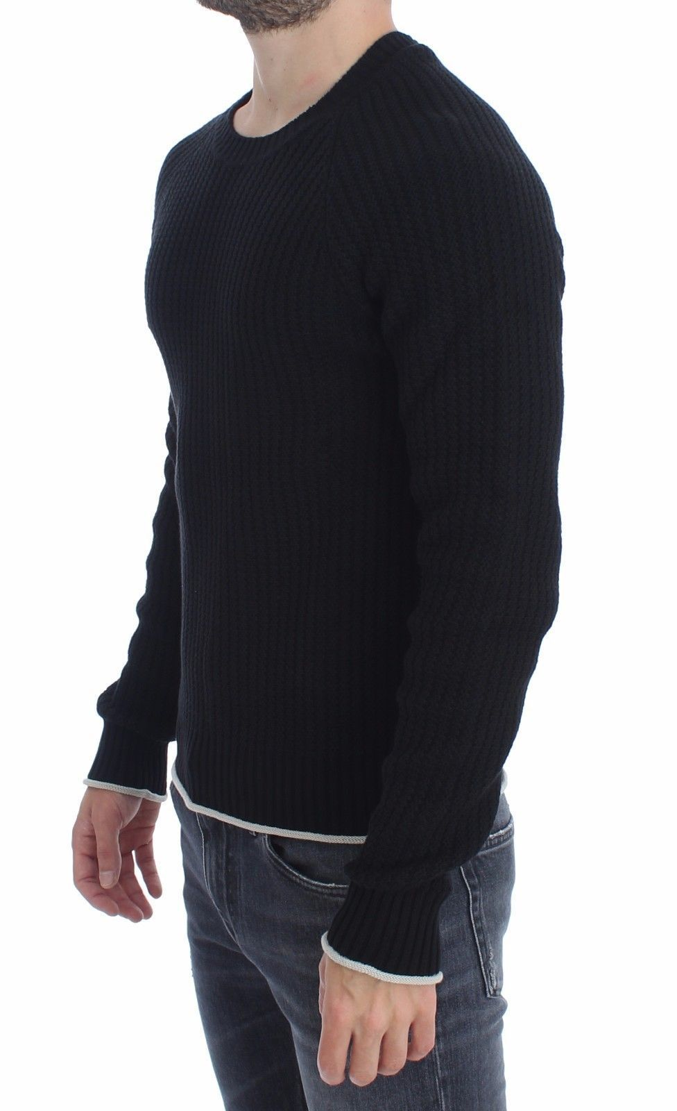 Dolce & Gabbana Blue Cotton Silk Knitted Sweater