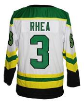 Custom Name # St John's Shamrocks Retro Hockey Jersey New White Rhea #3 Any Size image 2