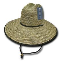 Mat Straw Lifeguard Hat - Natural, Gardening Sun Hat (Lunada Bay 528-NAT... - £15.43 GBP