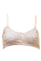 For Love & Lemons Floral Lace Bralette White RRP $95 BCF711 - $94.05