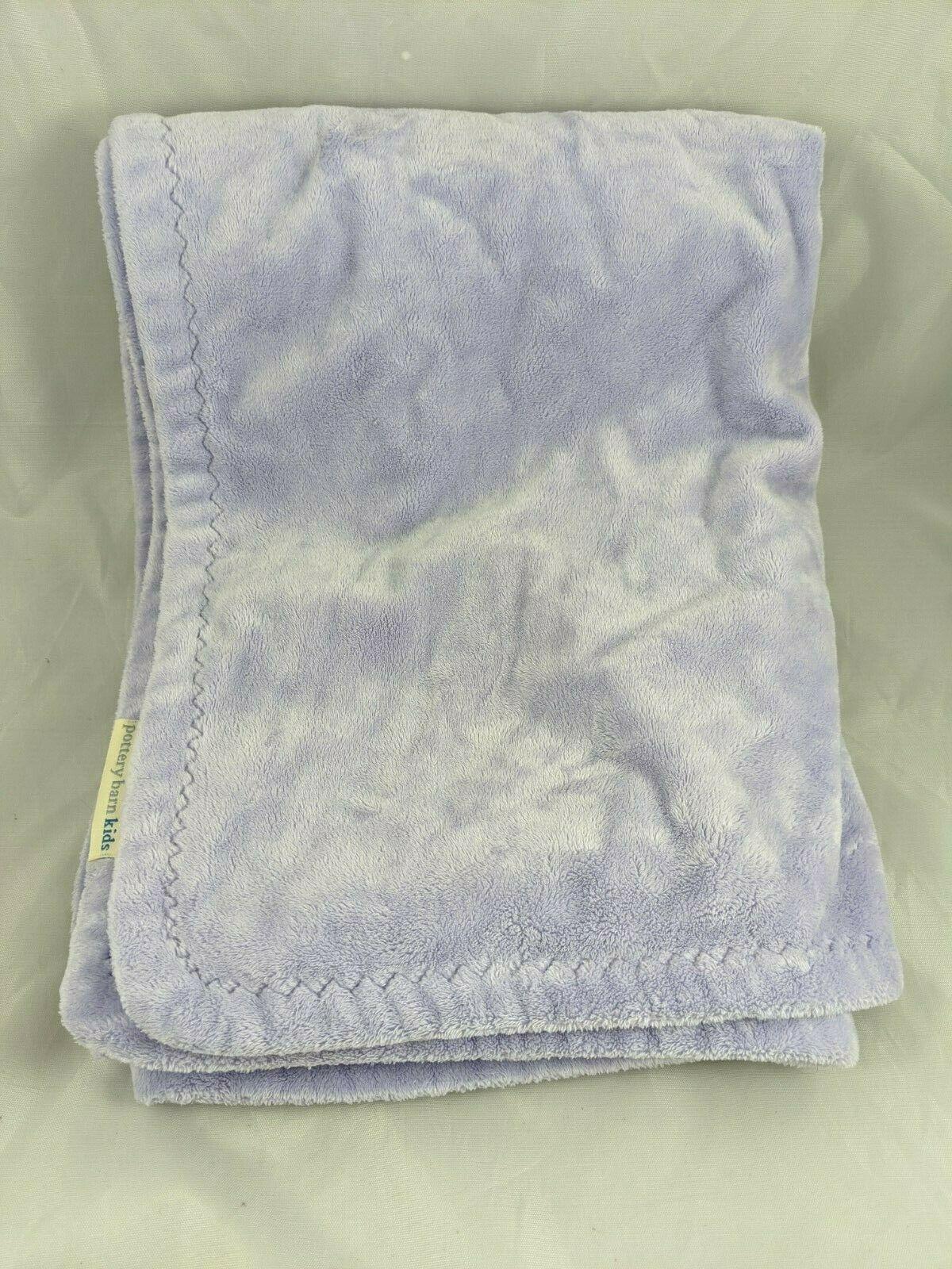 "NWT Pottery Barn Kids Baby Lilac CHAMOIS Cozy Stroller Blanket 30 x 40/"""