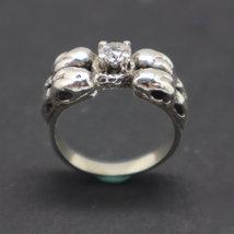 Silver Raven Skull Ring image 5