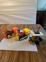 "Vtg 1964 Fisher-Price ""CHUG-CHUG, TOOT-TOOT, & Caboose"" Wooden Pull-Toy Lot Of 3 - $24.63"